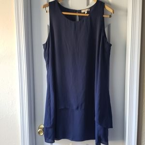 Halo Navy Blue Sleeveless Dress size XL NWT